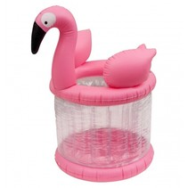 Opblaasbare ijshouder 75 cm Flamingo roze