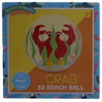 strandbal Krab 3D 30 cm vinyl