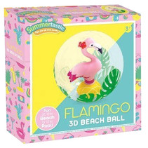 strandbal Flamingo 3D 30 cm vinyl