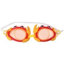 zwembril krab 16,5 cm rood