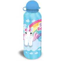 bidon unicorn aluminium blauw 500 ml
