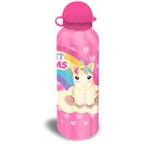 bidon unicorn aluminium roze 500 ml