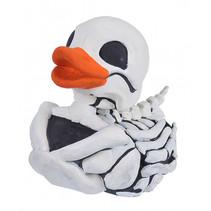 badeend skelet jongens 10 cm wit/zwart