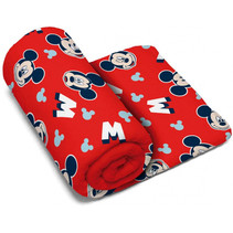handdoek Mickey Mouse polyester 150 x 95 cm rood