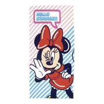 strandlaken Minnie 70 x 140 cm microfiber rood/blauw