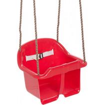 babyschommelzitje kunststof 36 x 18 cm rood