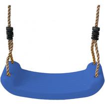 schommelzitje kunststof 42 x 16 cm blauw