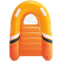 bodyboard opblaasbaar junior 120 x 89 cm vinyl oranje