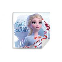 handdoek Frozen II meisjes 30 x 30 cm blauw/rood
