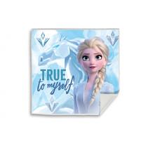 handdoek Frozen II meisjes 30 x 30 cm wit/blauw