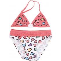 bikini Girls Power meisjes polyester roze/wit