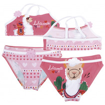 bikini Llama meisjes polyester roze