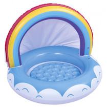 opblaaszwembad regenboog junior 95 x 66 cm vinyl blauw