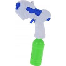 waterpistool 19 cm wit/blauw