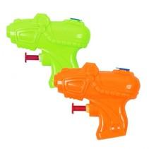 waterpistool 2 stuks groen/oranje 8 cm