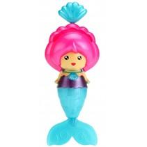zwemmende zeemeermin blauw/roze 12 cm