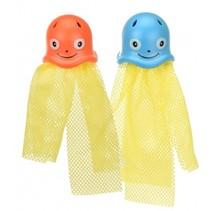 Duik octopussen 15 cm blauw/oranje 2 stuks