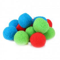 splashballen foam blauw/rood/groen 12 stuks