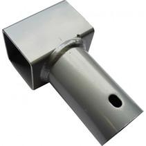 trampoline T-stuk 40 mm staal zilver