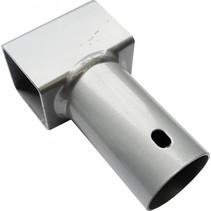 trampoline T-stuk 38 mm staal zilver