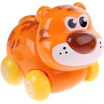 babytijger op wielen oranje