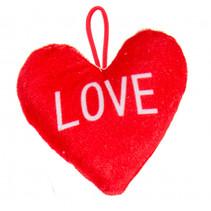 knuffel hartje junior 12 x 13 cm pluche rood