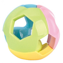 rammelaar bal junior groen/geel/blauw/roze