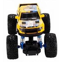 monstertruck jongens 16 cm staal geel/blauw