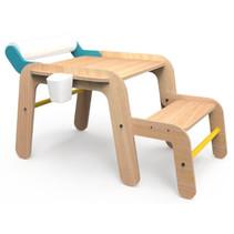 tekentafel met bankje junior 75 x 101 cm hout naturel