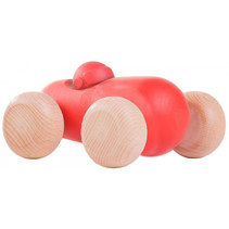 auto Blob junior 10,5 x 12,5 cm hout rood/naturel