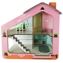 poppenhuis Casa meisjes 65 x 50 cm hout roze
