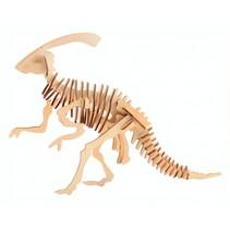 3D-puzzel Parasaurolophos 11 x 15 cm hout bruin