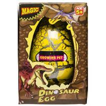 groei-ei dinosaurus 12 x 6,5 cm geel