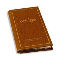 scoreboekje Bridge 70 pagina's leer bruin