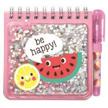 notitieblokje Be happy junior 9,5 x 9 cm roze 70 pagina's