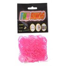 loombandjes Fun Rings meisjes rubber roze 325-delig