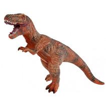 dinosaurus T-Rex jongens 41 cm rubber bruin