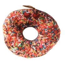 knuffel donut junior 15 cm pluche bruin hagel