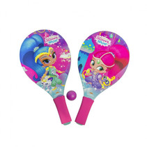 beachballset Shimmer and Shine junior 38 cm roze 3-delig