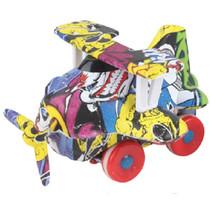 propellervliegtuig regenboog junior 9 cm geel/rood
