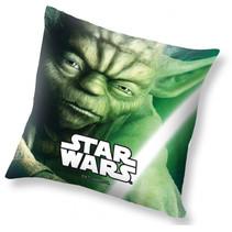 kussen Yoda junior 40 x 40 cm polyester groen