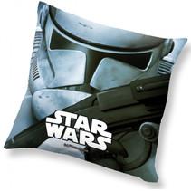 kussen Stormtrooper junior 40 x 40 cm polyester grijs