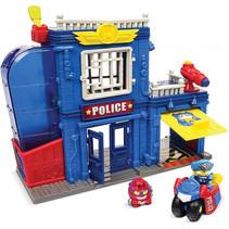 speelset Superzings politiebureau blauw 4-delig