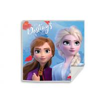 handdoek Frozen II meisjes 30 cm katoen blauw