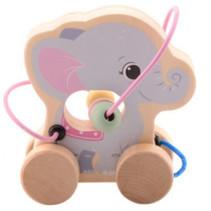 trekfiguur olifant junior 15 x 14 cm hout