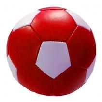 speelbal Soft junior 10 cm kunstleer rood/zwart