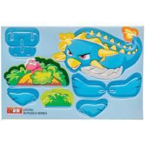 3D-puzzel dino jongens 10,5 x 7,5 cm karton blauw
