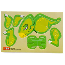 3D-puzzel dino jongens 10,5 x 7,5 cm karton groen