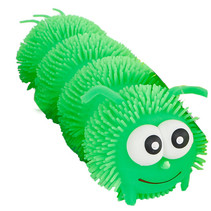 puffer rups 26 cm siliconen groen