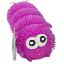 puffer rups 26 cm siliconen paars
